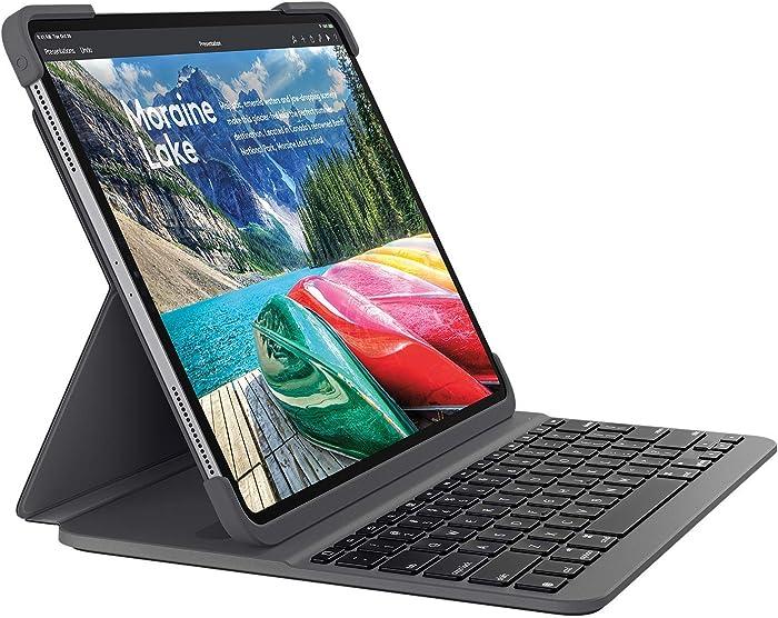 Logitech Slim Folio PRO iPad Pro 12.9-inch (3rd gen) Keyboard case with Integrated Backlit Bluetooth Keyboard (only for iPad Pro 12.9-inch 3rd gen)