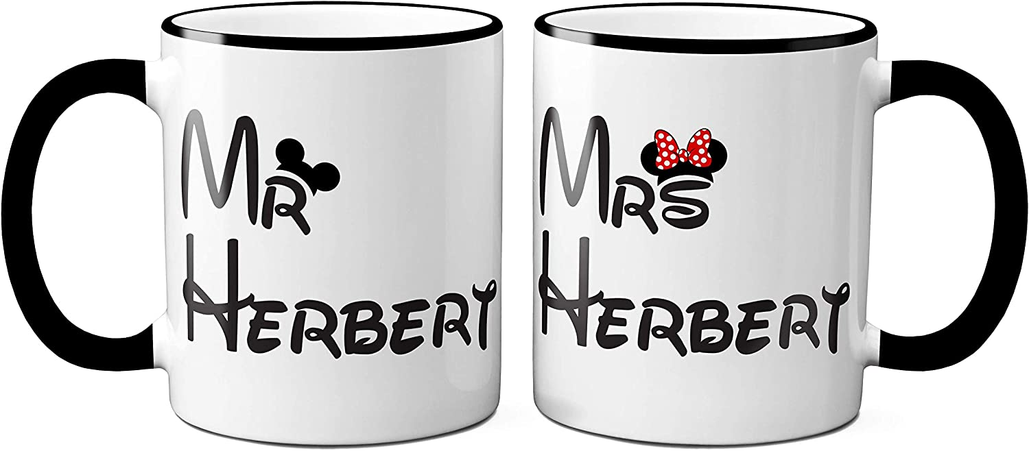 Personalised Mr and Mrs Mugs Mr Perfect Wedding or Anniversary Present