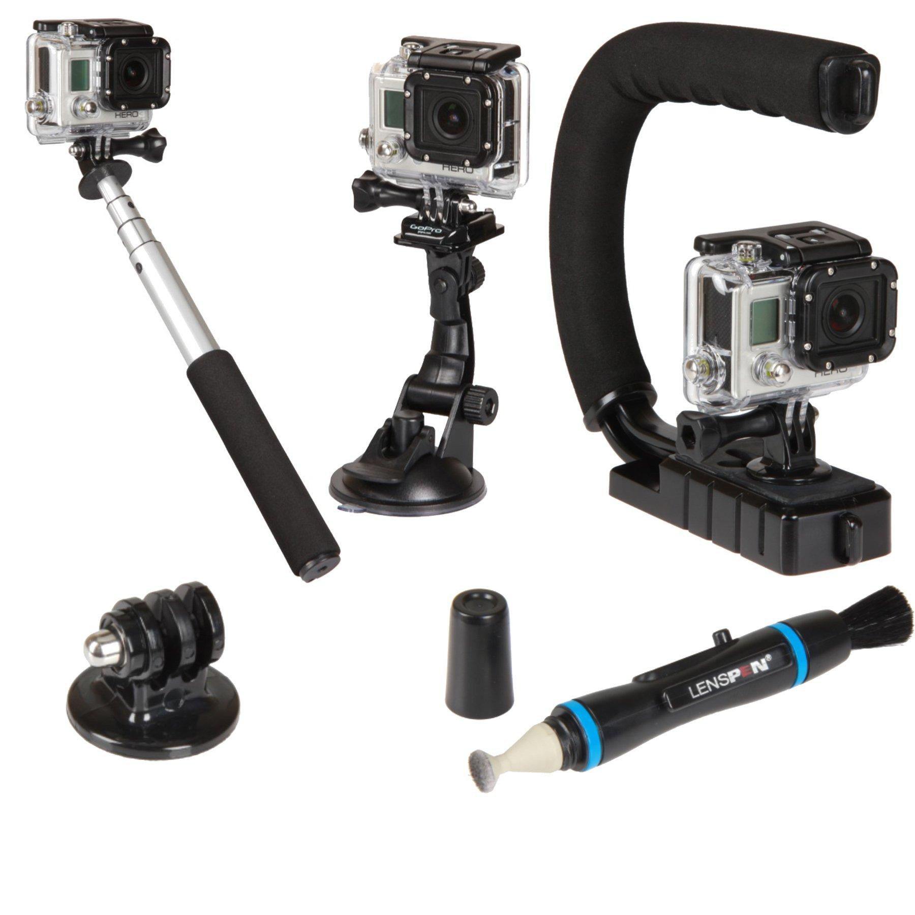 Sunpak ACTION-5 Action Camera Accessory Kit (Black) by SUNPAK