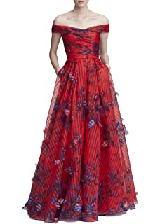 7ecf43ef Marchesa Notte Women's Cold Shoulder Stretch Crepe Gown with Beaded ...