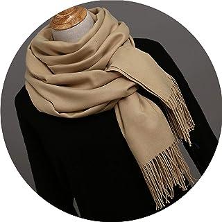 Scarf Women Cashmere Soft Winter Scarves Shawls Ladies Warmer Pashmina Long Foulard,asshown,Khaki