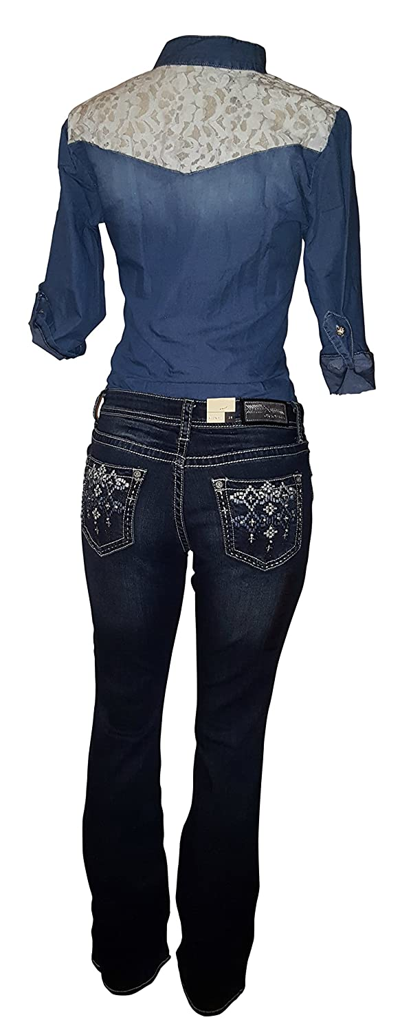 Grace in LA Easy Fit Boot Cut Denim Jeans 7268 Size 26-30,32
