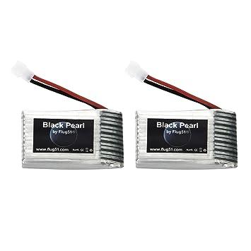 Flug51® fl1317 - 2 x Batería de polímero de Litio 1S 3.7 V 600 mAh ...