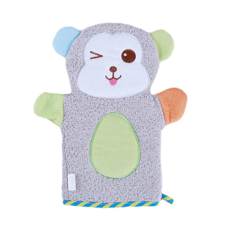 YSINFOD Cartoon Bathing Gloves Lion Rabbit Bear Monkey Baby Washcloths Bathing Towls Cute Animal Pattern Bath Mitt for Baby Kids Children