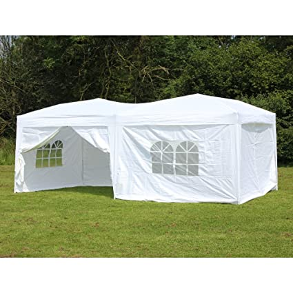 Palm Springs 10 x 20 Pop-up WHITE Canopy w/ 6 Side Walls EZ  sc 1 st  Amazon.com & Amazon.com: Palm Springs 10 x 20 Pop-up WHITE Canopy w/ 6 Side ...