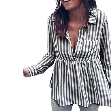 Blusas Mujer, ASHOP Casual a Rayas Suelto Sudaderas Ropa en Oferta Camisetas Manga Larga Tops de Fiesta Abrigos Invierno de Mujer otoño: Amazon.es: Ropa y ...