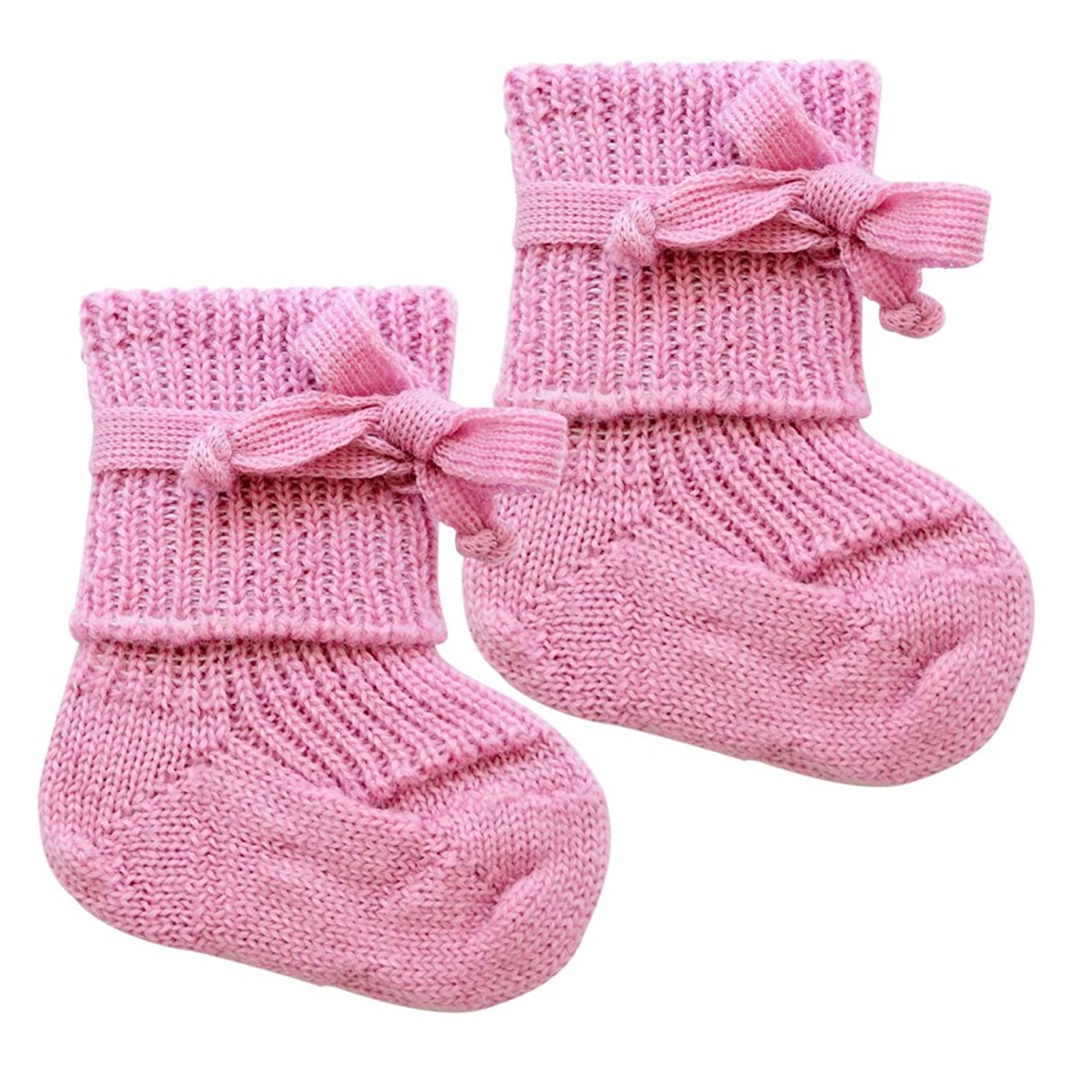 Amazon Preemie & Newborn Baby Warm Booties Socks with Ties 100