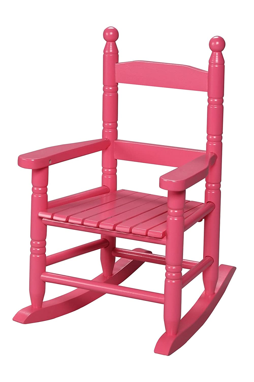 Amazon.com: Gift Mark Childu0027s Double Slat Back Rocking Chair, Espresso:  Kitchen U0026 Dining