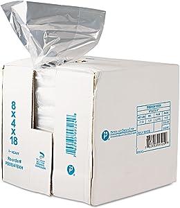 Inteplast Group PB080418R Get Reddi Food & Poly Bag 8 x 4 x 18 8-Quart 0.68 Mil Clear 1000/Carton