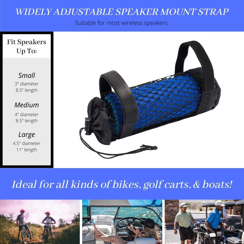 Portable Speaker Holder for Bikes Bicycle Riding Mount Attachment Small Adjustable Strap Mobile Case