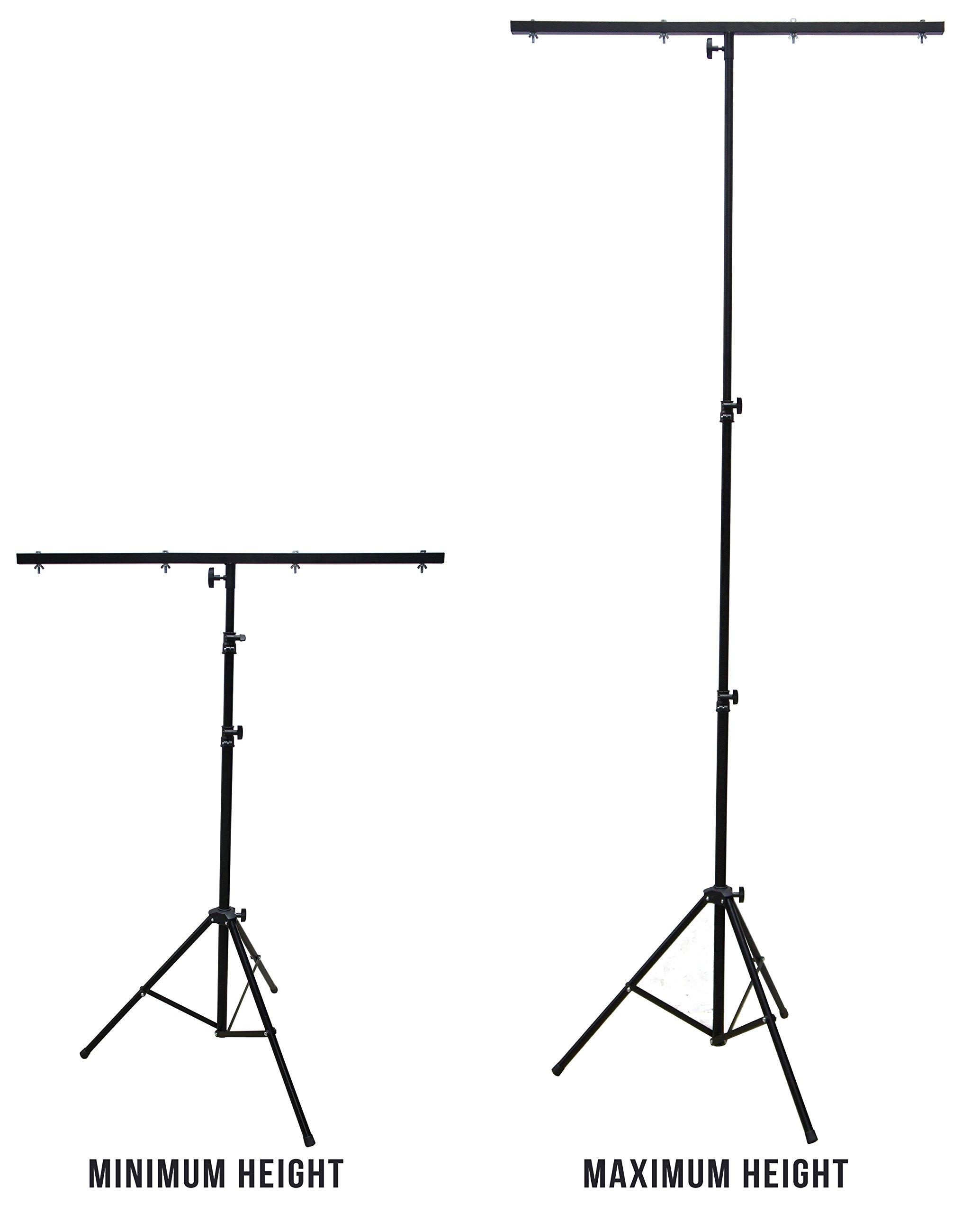 Harmony Audio HA-TBARSTAND Pro Audio DJ Lighting Tripod & T-Bar Light Stand