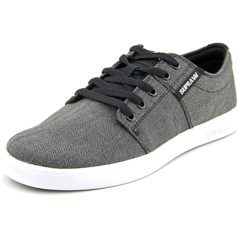 Supra Men's Stacks II Skate Shoe 9.5 D(M) US|Black Herringbone