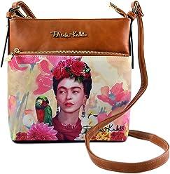 Frida Kahlo Floral Series Crossbody Messenger Bag