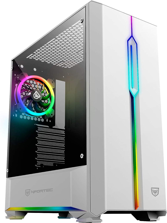 Nfortec Antares NF-CS-ANTARESW Torre Gaming, RGB, color blanco: Amazon.es: Informática