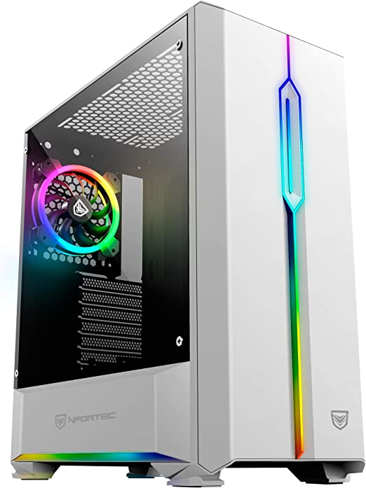 Nfortec Antares NF-CS-ANTARESW Torre Gaming, RGB, color blanco: Amazon.es: Informática