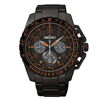 cfeac6238 Image Unavailable. Image not available for. Color: Seiko Mens Prospex Solar  Chronograph Watch ...