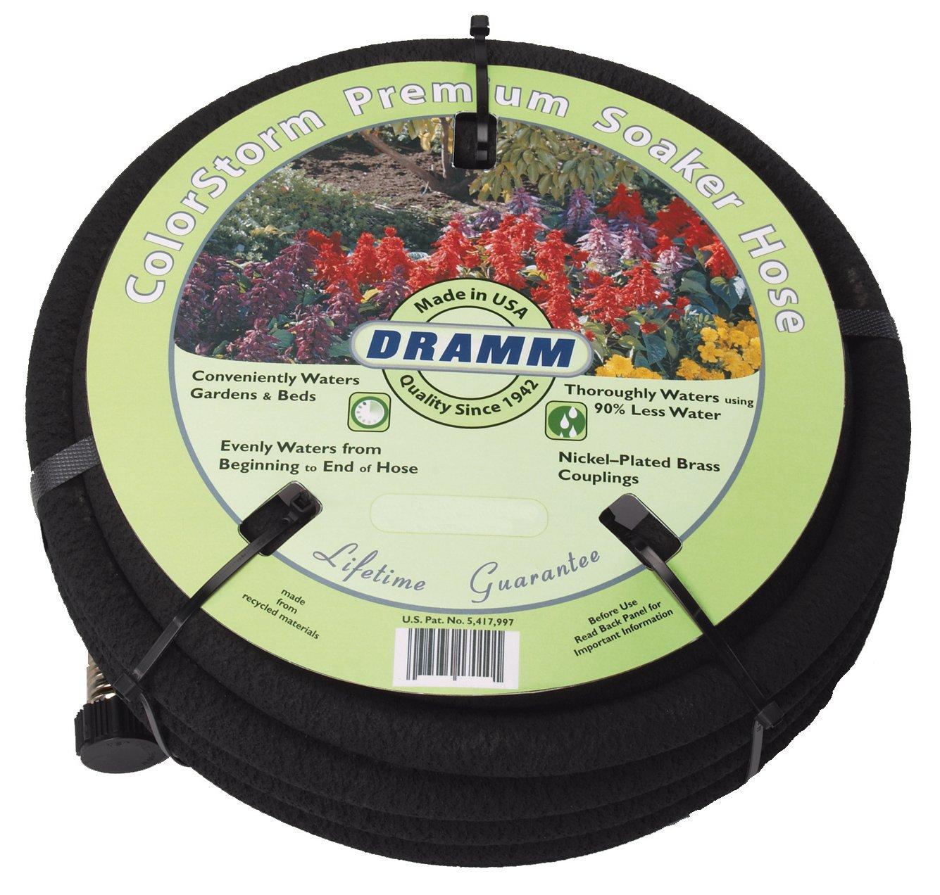 Amazon.com : Dramm 17010 ColorStorm Premium 50 Foot Soaker Garden Hose,  Black : Watering Nozzles : Garden U0026 Outdoor