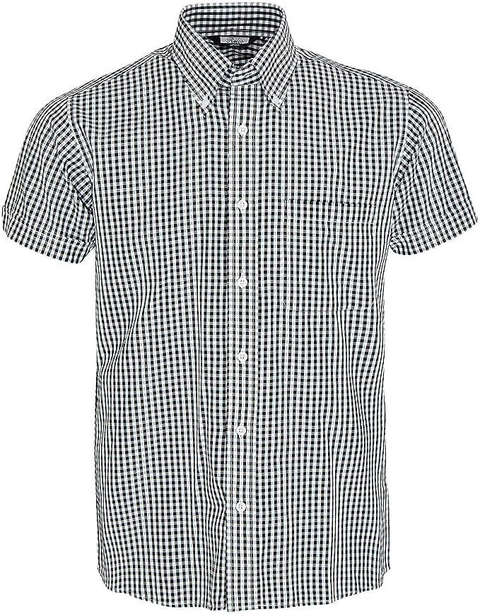 1960s Mens Shirts | 60s Mod Shirts, Hippie Shirts Relco Mens Short Sleeve Gingham Mod Shirt £31.99 AT vintagedancer.com