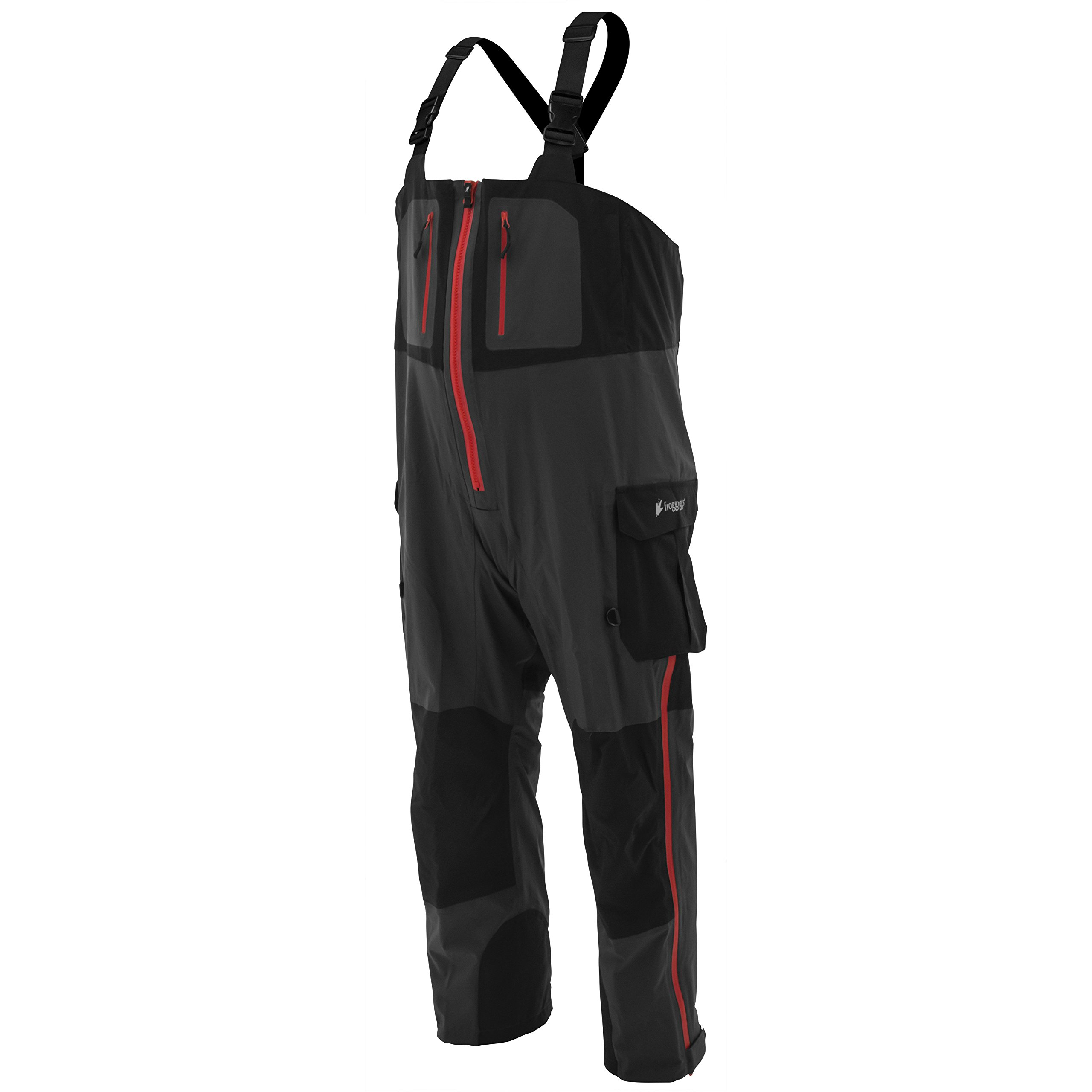 Frogg Toggs Pilot II Guide Bib, Black/Charcoal, Size X-Large