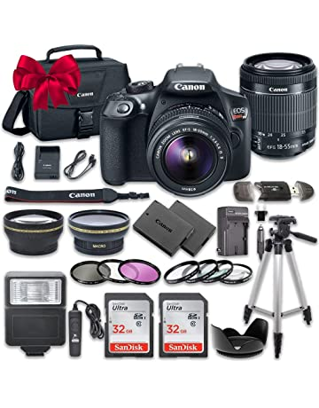 Canon Eos Rebel T6 Dslr Camera Bundle With Canon Ef S 18 55mm F