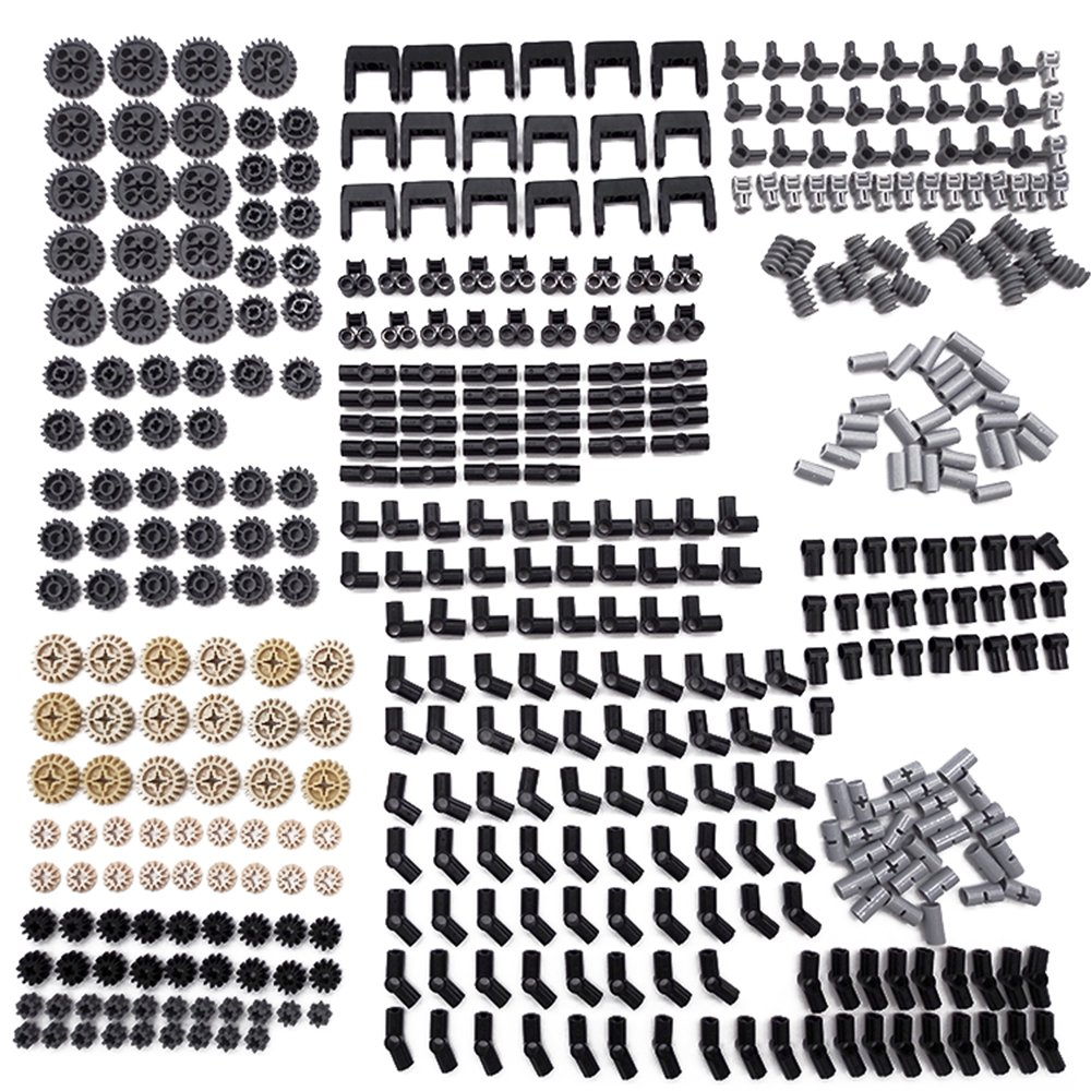 New Technic Series Parts - 450 Pieces Gear Chain Link Connectors Bricks Sets- Compatible With All Major Brands