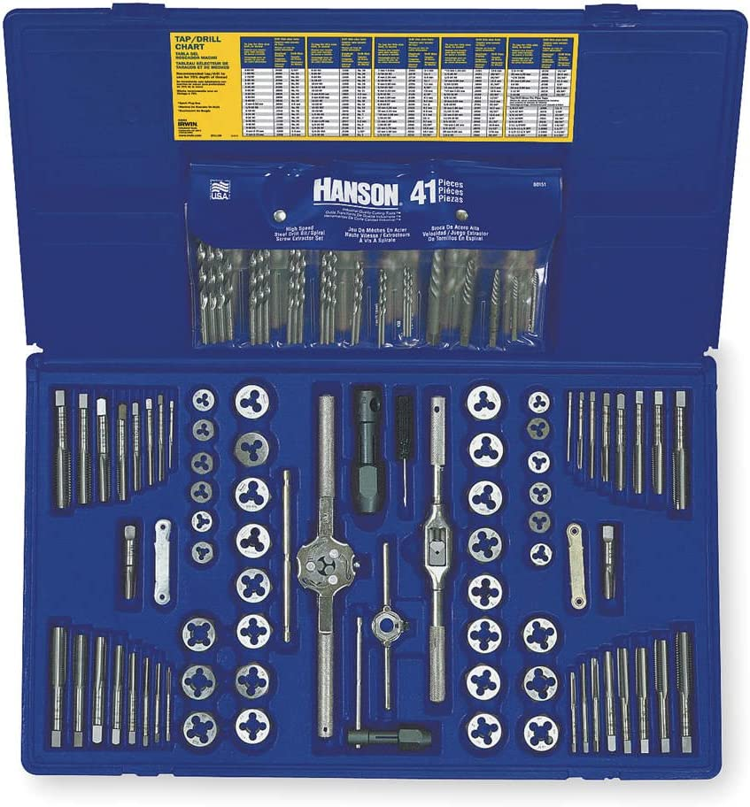 Irwin Tools 117 piece deluxe tap and die set