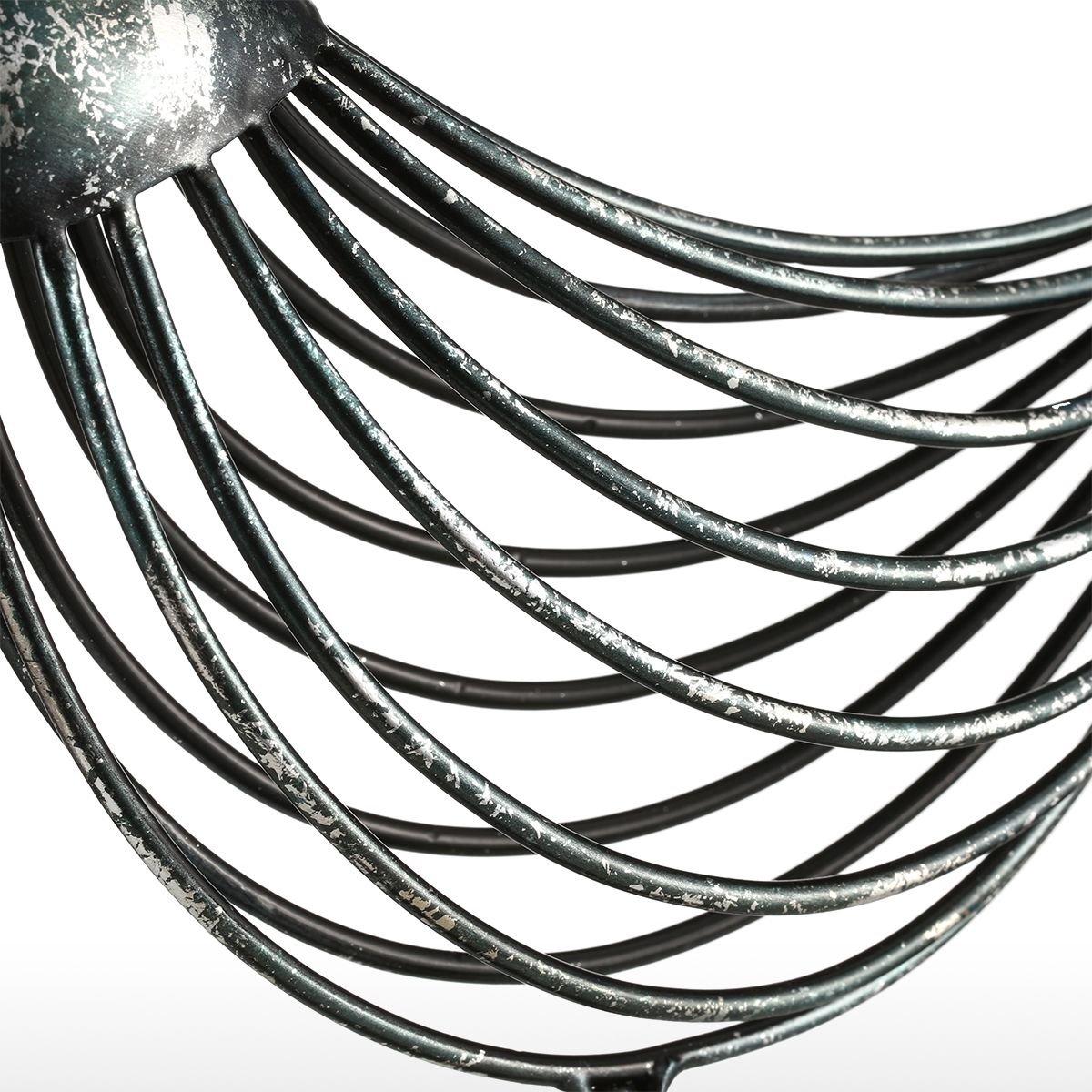Tooarts Metal Sculpture Iron Wire Bird Animal Ornament Modern Sculpture Home Decoration Creative Sculpture Bird