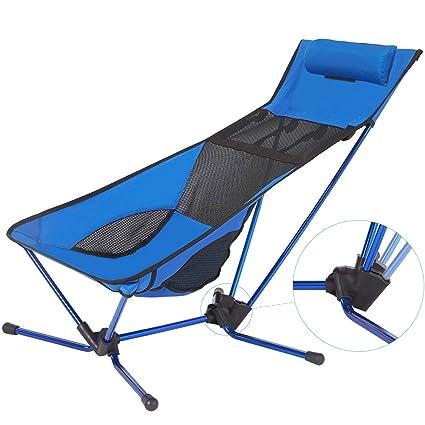 Amazon.com: Silla de camping ligera y plegable, con ...