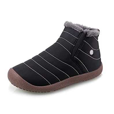 00f6535db Image Unavailable. Image not available for. Colour: IceUnicorn Womens Mens  Snow Boots Warm Winter Booties Faux Fur Lined Lightweight Outdoor Boots  Anti Slip