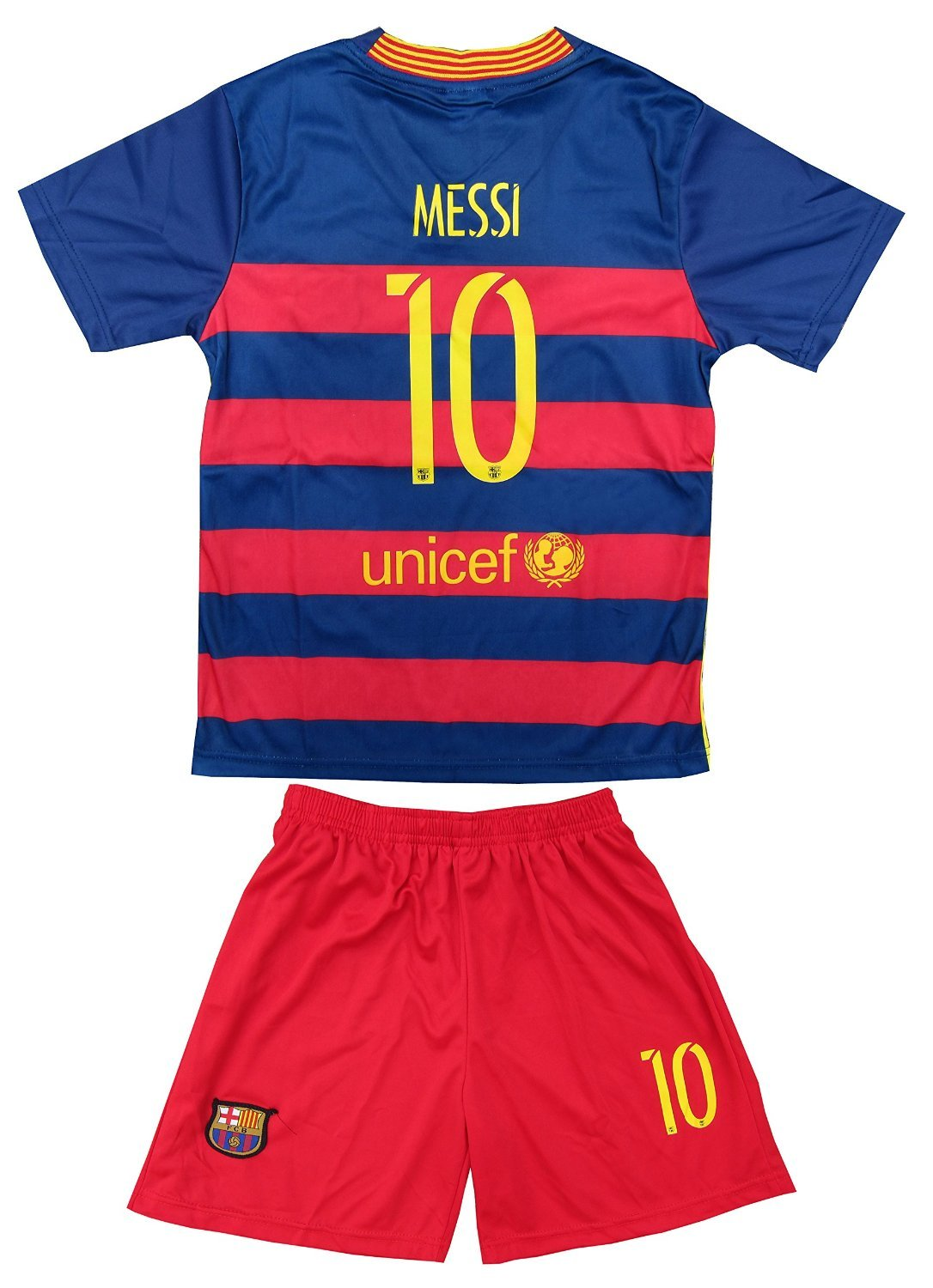 2015/2016 FC BARCELONA LIONEL MESSI #10 HOME FOOTBALL Soccer KIDS JERSEY & SHORT (6-7 YEARS)