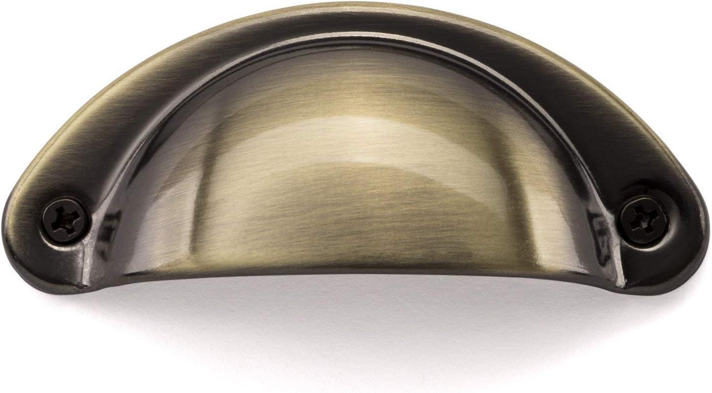 SO-TECH/® Muschelgriff Schalengriff Griffschale Edelstahloptik geb/ürstet