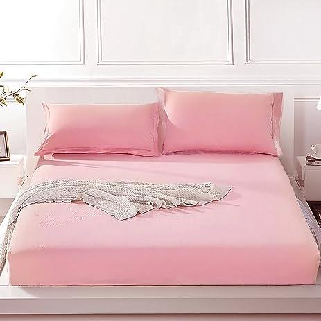Elegant FADFAY Super Soft Bed Sheet Set Luxury Sheets 100% Tencel King,Pink