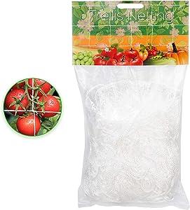 Decorlife Garden Netting Trellis 5ftx30ft, 6x6 Polyester Mesh Trellis Heavy-Duty Trellis Net for Plants, Versatile & Horizontal
