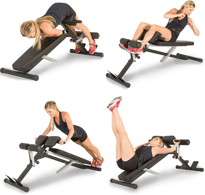 Fitness Realidad X-Class luz Comercial Multi-Workout Abdominal/Hyper Espalda extensión Banco
