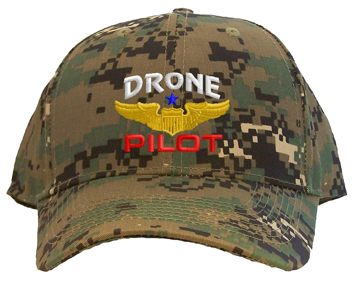 88e63308e03 Spiffy Custom Gifts Drone Pilot with Wings Low Profile Baseball Cap Black  at Amazon Men s Clothing store