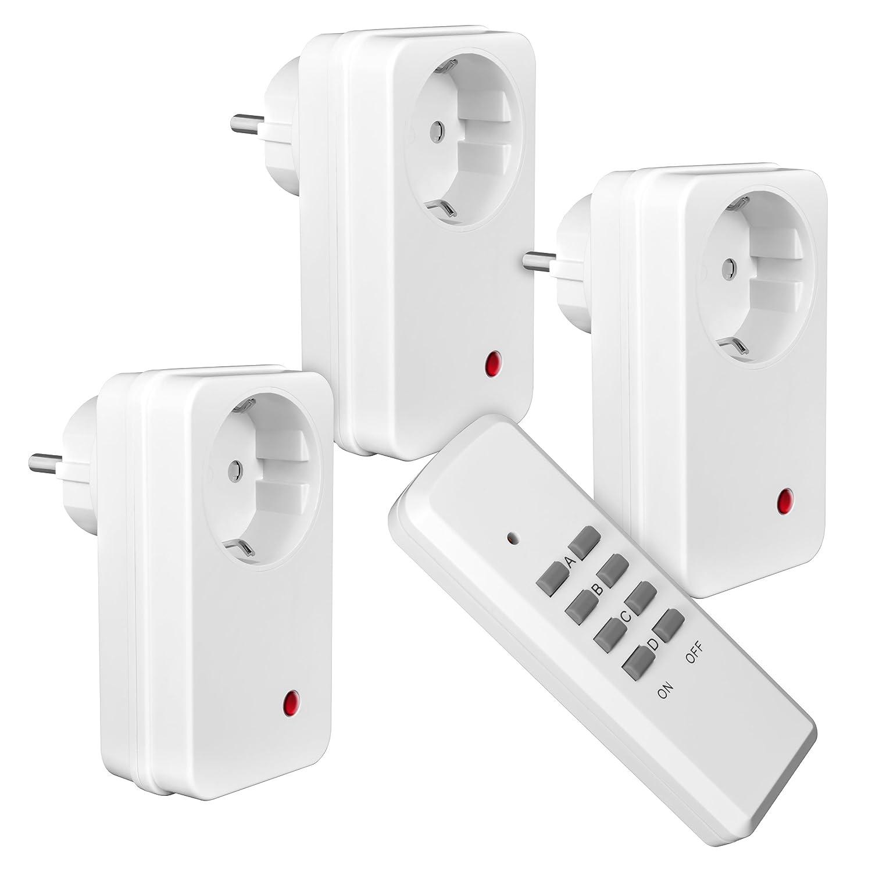 Funksteckdosen gibt es sowohl für den Gebrauch im Haus als auch für den Einsatz draußen.