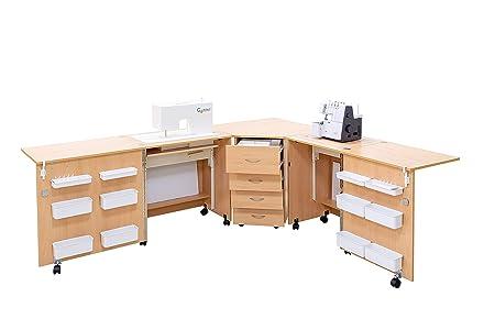 Comfort 6 | Mueble para máquina de coser | (Oak Kendal Cognac, M ...