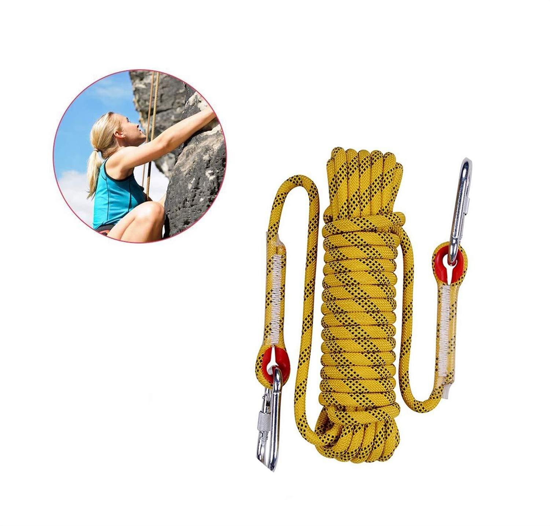 登山用ロープ、屋外用クライミングロープ、重い安全ロープ、ツリークライミング/ロッククライミング/ハイキング/レスキュー/テント/犬用リーシュ10m 20m 30m (Size : 100m)  100m
