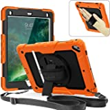 Weuiean for iPad Pro 9.7 Case 360 Degrees Rotate Hand Controlling with Built-in Stand Screen Protector Full-Body Shock Proof