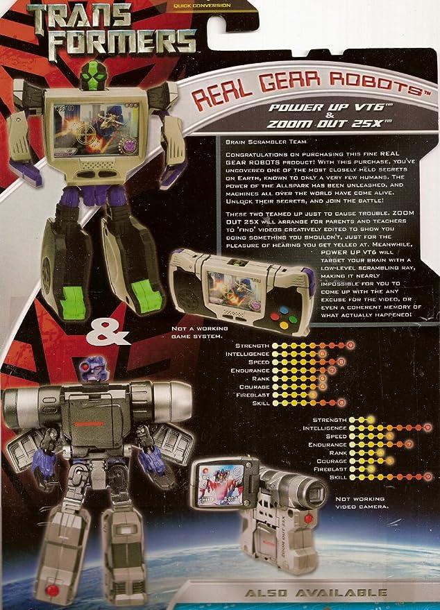 TRANSFORMERS 2 Pack Brain Scrambler Team Zoom Out 25X Real Gear Robots 2007 MOC