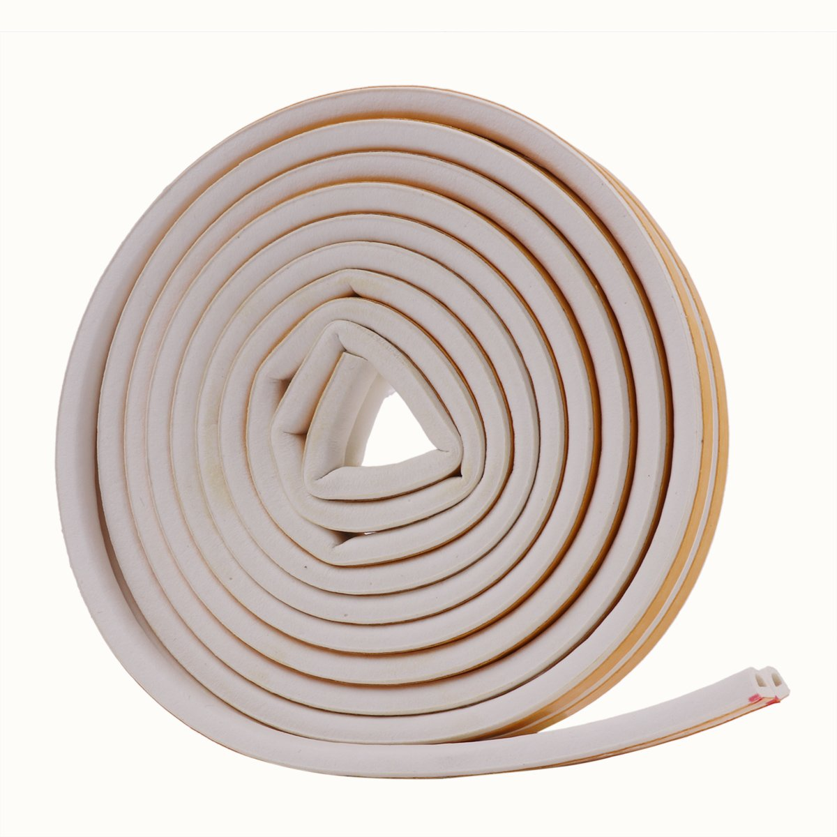 Freebily Insulation Doors and Windows Soundproofing D Type Seal Strip Collision Avoidance Rubber Self-Adhesive Seal Weatherstripping Black 5Mï ¼ ˆ 2.5*2ï ¼ ‰