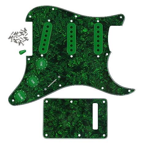 FLEOR 11 holse Golpeador con placa trasera partes de guitarra Set ...