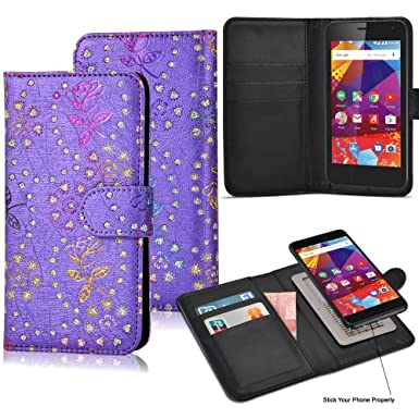 super popular 2bf53 a8b4e Case for Argos Alba 4 Inch Phone, Luxury PU Leather Wallet Case Magnetic  Flip Cover Stand View Protective Card Holder Case Cover Pouch For Alba 4  Inch ...
