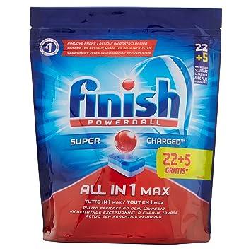 Finish Pastillas para Lavavajillas Todo En Uno Max 22 + 5 Regular ...