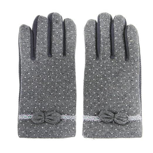 2 opinioni per Greenery- Guanti da donna, molto soffici e caldi, in lana cashmere, touchscreen,