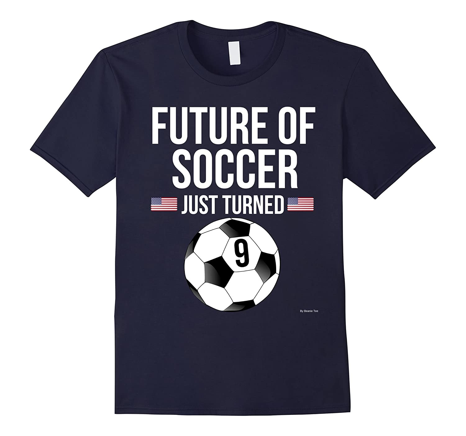 9th Birthday Soccer T Shirt 9 Year Old Birthday Gift-TH
