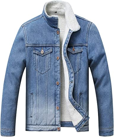 Fashion Boys Kids Sherpa Style Fleece Collar Jean Denim Jacket winter Coat New