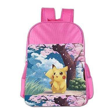 Kids Pokemon Pikachu School Backpack Cute Boys Girls School Bag Pink  Amazon .co.uk  Clothing 9602ec99a620b