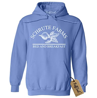 5567bdafe NuffSaid Schrute Farms Beets Bed and Breakfast Hooded Sweatshirt Sweater  Pullover - Unisex Hoodie (4XLarge