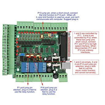 4Axis 5Axis 6Axis CNC Interface Breakout Board, 0-10VPWM CNC